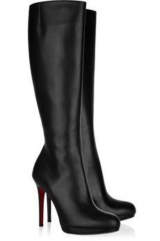 Louboutin tall black boots for work... or just for awesome. These really are pretty perfect.