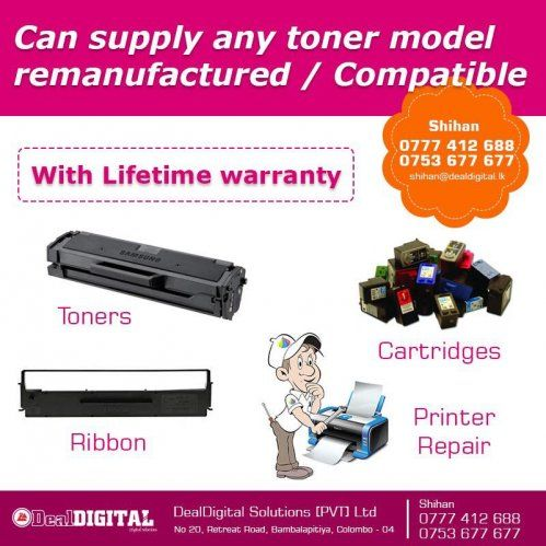 Computer Accessories Printer / Scanner  For Sale Sri lanka. BUY ALL YOU REQUIRED PRINTING EQUIPMENT,  TONER CARTRIDGES,  RIBBONS AND PRINTER REPAIRS ALL UNDER ONE ROOF !! WITH WARRANTY !!  ' Online Classifieds is one of the pioneers among free classifieds ad websites.  Users can use SellBro to post free ads,free classified ads,mobile for sale,cars for sale, bike for sale ads,buy/sell,rent lease apartments,villas and land both for commercial ads in srilanka.