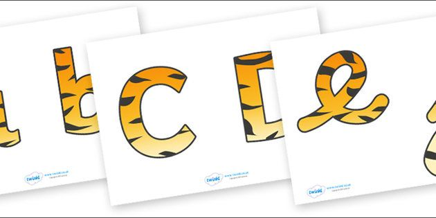 Display Lettering & Symbols (Tiger Print)