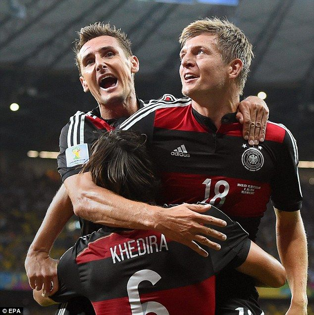Brace: Toni Kroos scored the third and fourth on the night. July 8/14