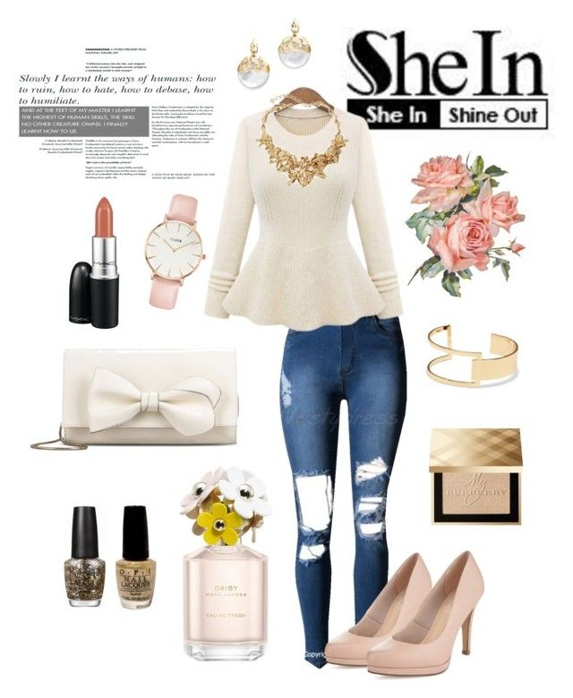Shein contest by neeacamillaa on Polyvore featuring Limited Edition, RED Valentino, CLUSE, Oscar de la Renta, Sole Society, Alexis Bittar, Burberry, MAC Cosmetics, Marc Jacobs and OPI