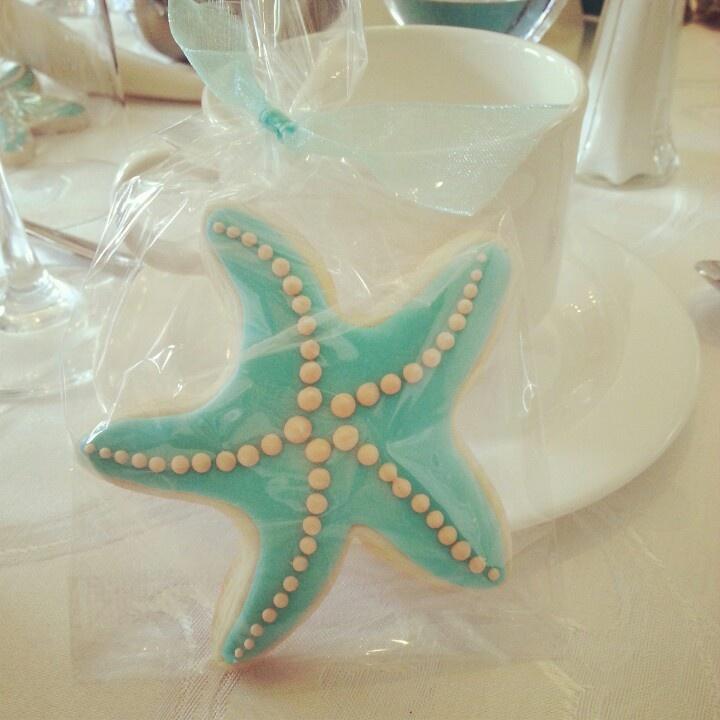 blank beach bridal shower invitations%0A Starfish Cookie Favor  beach  bridal  shower  anelsondesigns