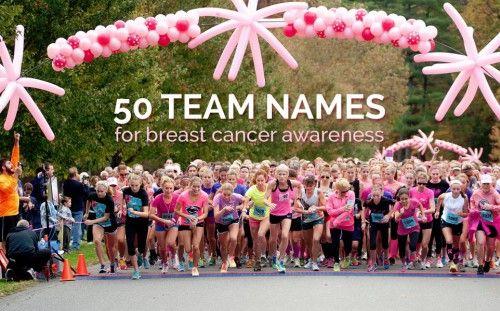 50 Team Names for Breast Cancer Awareness Walks