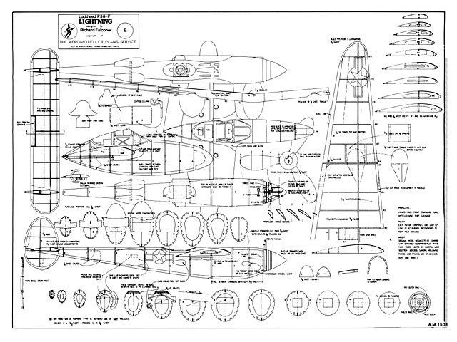 P 38 Airplane Plans