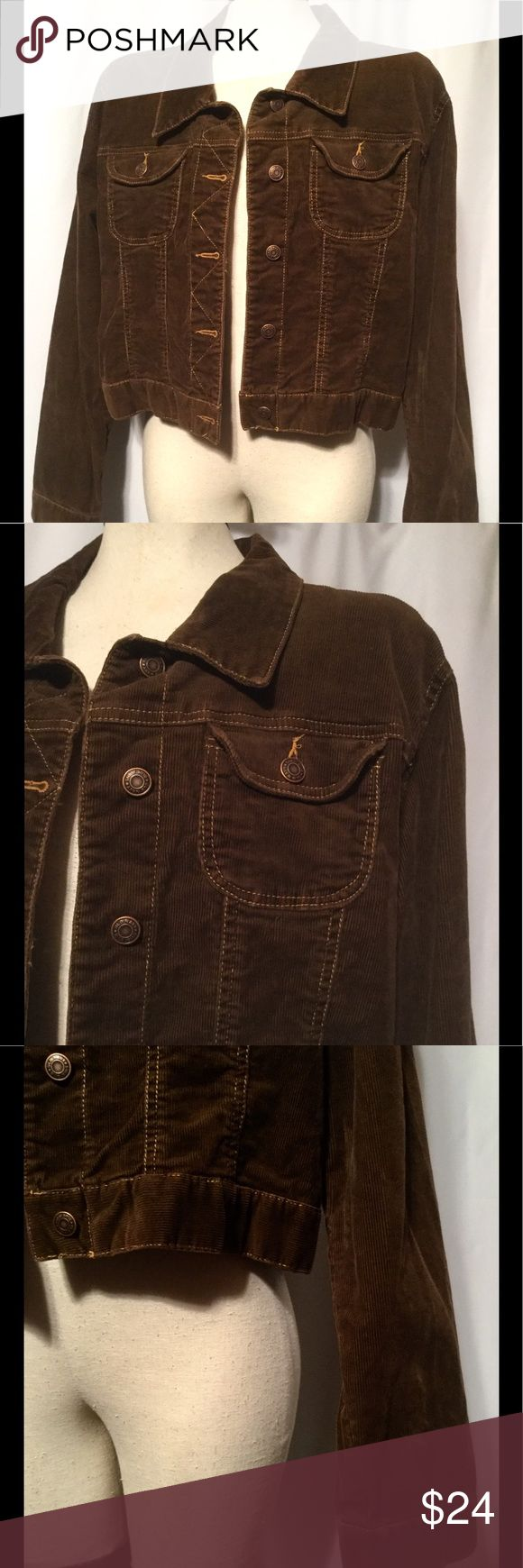 """OLD NAVY Brown Corduroy Jacket OLD NAVY  NEW without tags ~ EXCELLENT condition!  5 metal front buttons ~ Adjustable buttoned waistband  SIZE: XL  COLORS: Brown MATERIAL: 98% Cotton, 2% Spandex BREAST: Pit-to-Pit – 23"""" across / 46"""" around  OVERALL LENGTH: 20""""  SHOULDER SEAM to SEAM: 19""""  SLEEVE LENGTH: 25"""" CARE: Machine Wash / Tumble Dry ITEM: GH6435 Old Navy Jackets & Coats"""