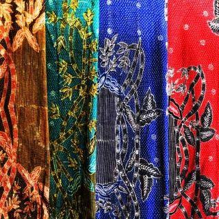 Batik Tulis Motif Bambu : Biru