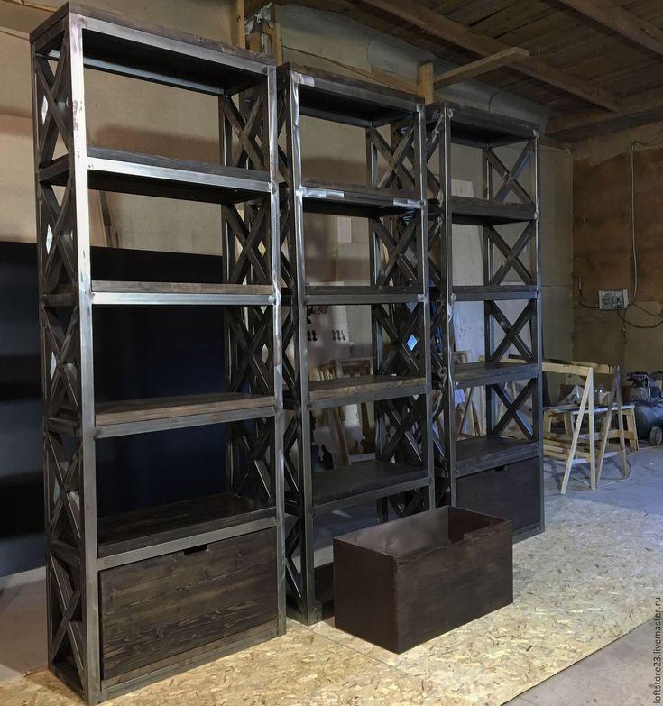 Купить Стеллаж BRISTOL 2,20/80 - мебель из металла, лофт, лофт мебель