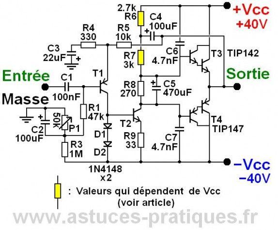 ampli ultra simple 50w a 200w schema 0