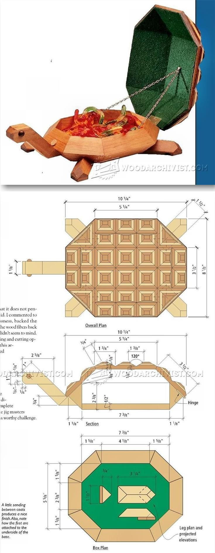 Turtule Box Plans - Woodworking Plans and Projects | WoodArchivist.com