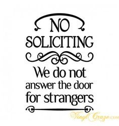 Funny No Soliciting Signs - No Solicitors Images, Pictures, Photos ...