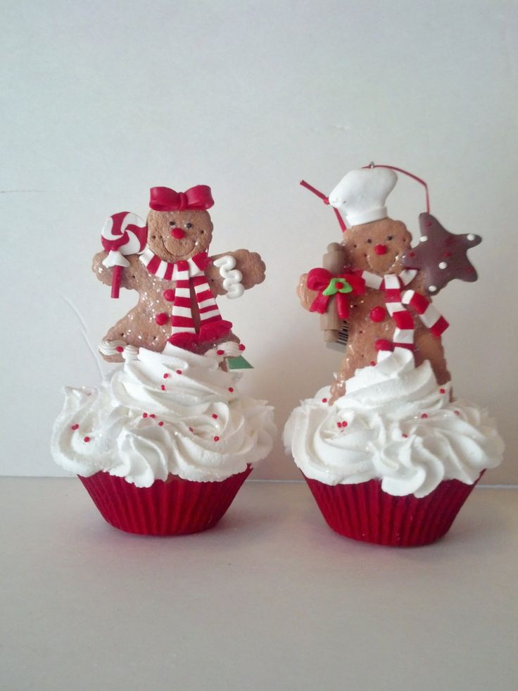 How Cute Gingerbread Decorations Fake Cupcakes