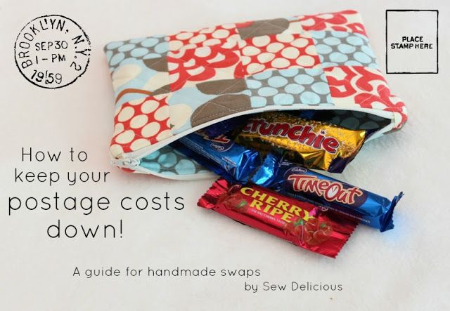 Sew Delicious: How To Keep Postage Costs Down for Handmade Swaps