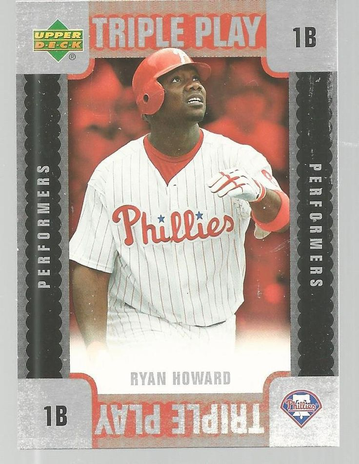 Ryan Howard Triple Play Baseball Card 2007 Upper Deck TP-RH Unscratched #UpperDeck #PhiladelphiaPhillies