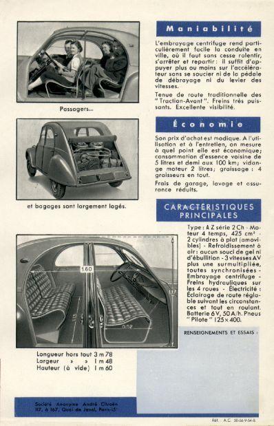 Citroen 2cv 1954