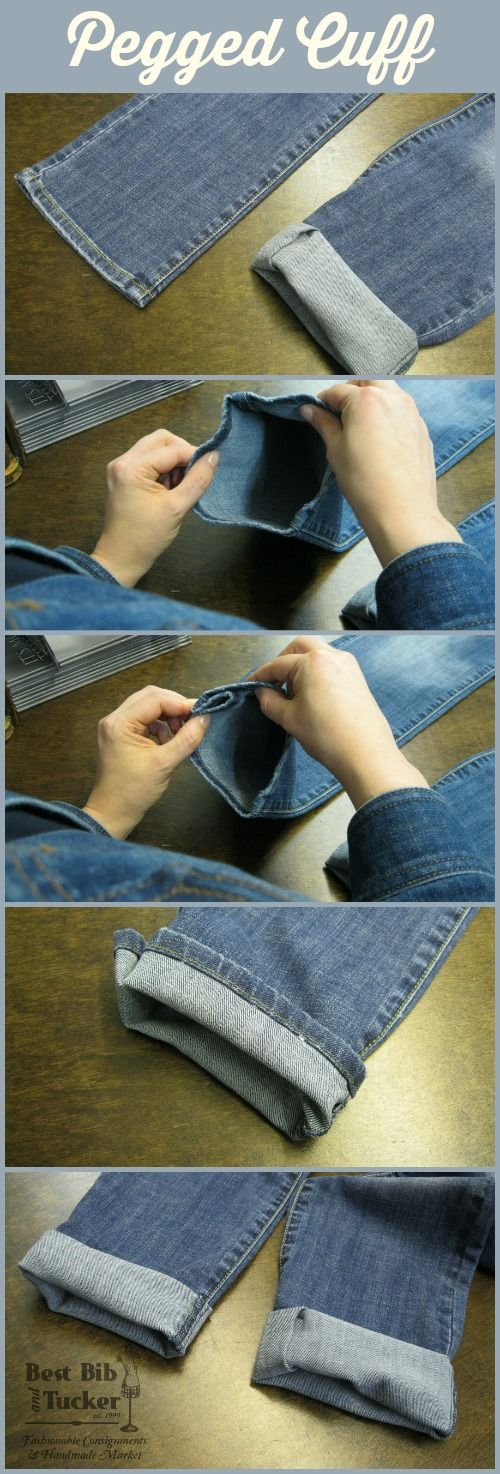 How to Cuff Jeans Pegged Cuff  Best Bib and Tucker
