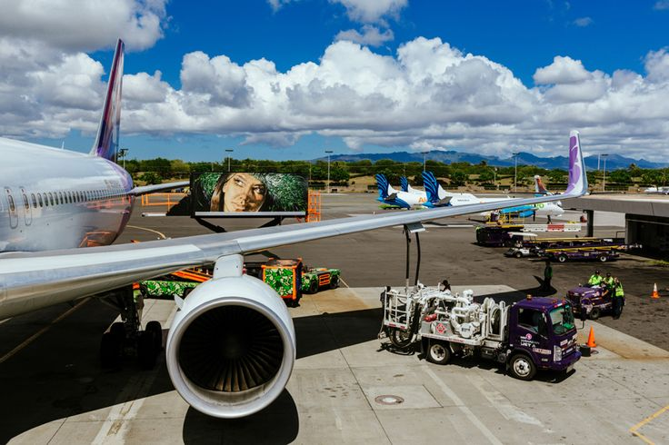 POW! WOW!  and Fitted Team-Up for the Hawaiian Airlines Ground Service Vehicle Project