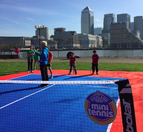 Judy Murray puts these enthusiastic kids through their paces!