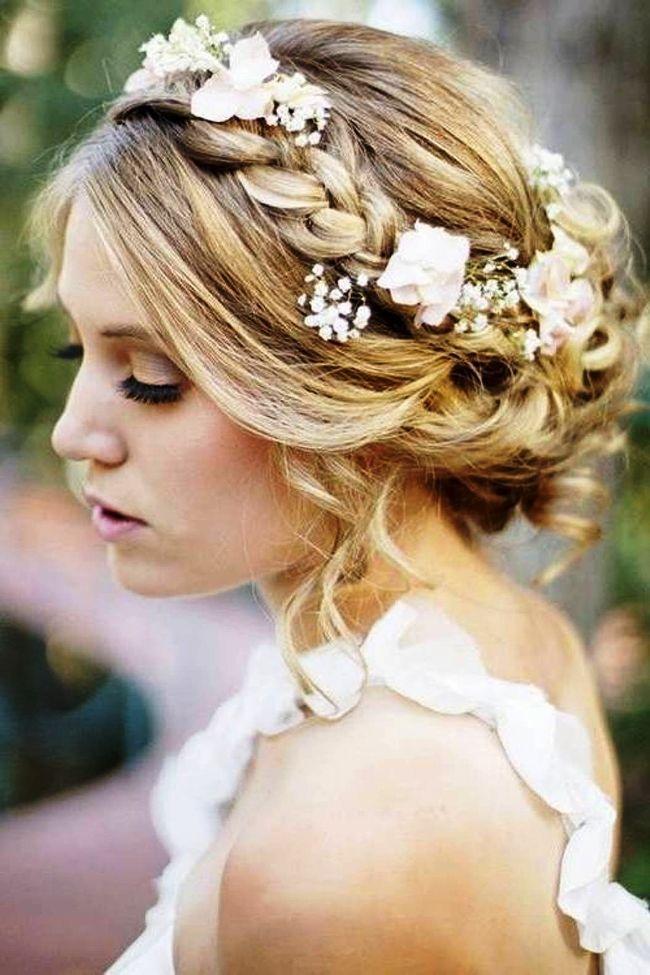 Vintage Hochzeit Hochsteckfrisuren für langes Haar mit Schleier und Tiara 2018