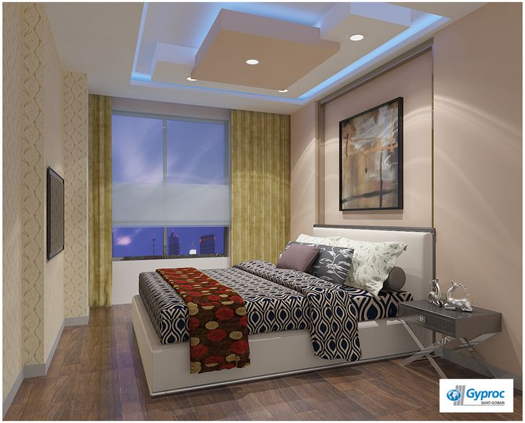 Beautiful designs that enhance the luxury of your bedroom for Bedroom gypsum ceiling designs photos
