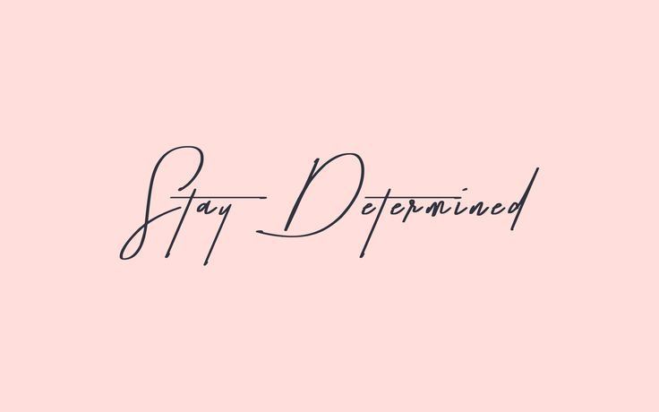 Stay Determined! | Keep yourself motivated with this cute pink + navy  desktop wallpaper by @AnnalisaCreate