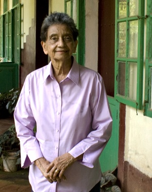 "BLANCHE ROCHA D'SOUZA, the Kenya-born Goan author of ""Harnessing the Trade Winds"", a cultural, social and economic history of the East African Indian."