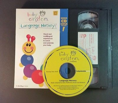Baby Einstein Language Nursery Vhs 2002 Babies