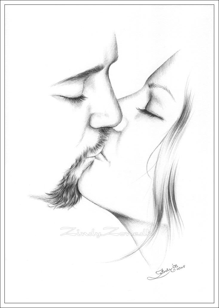 Drawings of couples kiss for my love by zindy on deviantart