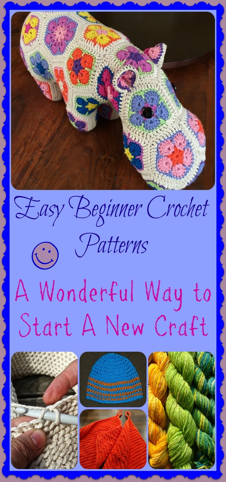 Easy Beginner Crochet Patterns make learning to love your yarn craft easy and fun. It doesn't have to be difficult to learn to crochet. Enjoy your craft and make something beautiful.