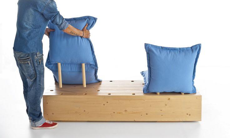 Sectional garden sofa FACILE OUTDOOR by Formabilio design Marco Gregori