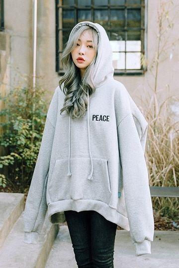 Peace Napping Boxy Sweatshirt | Korean Fashion
