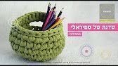 Cestino in fettuccia | Crochet basket | Fondo tondo || Katy Handmade - YouTube