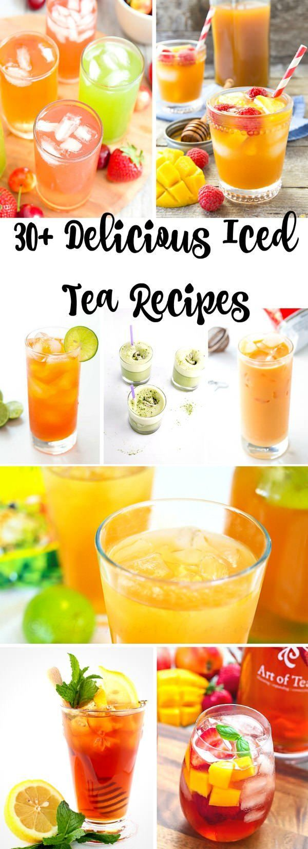 How to make 30+ Delicious Iced Teas - Recipes include green, sweet, healthy, mint, lemonade, and more!