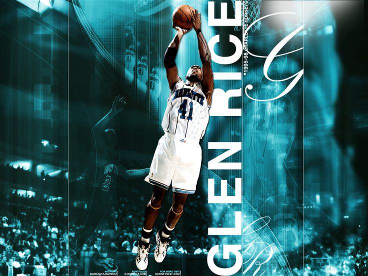 glen rice hornets | Hornets Wallpaper: Glen Rice Vintage Dark | New Orleans Pelicans ...