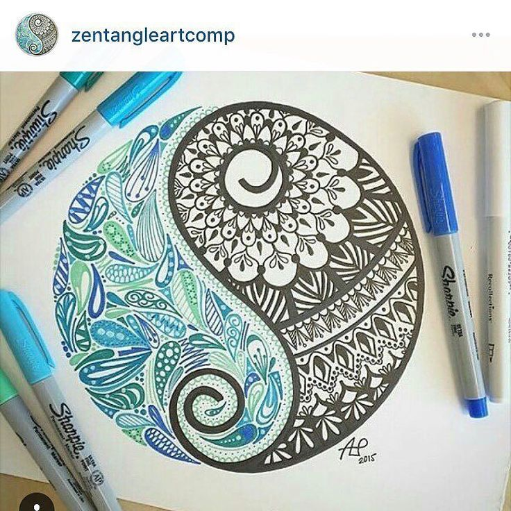 """Thank you to everyone who voted for my ying and yang """"mandala"""" piece for the mandala themed contest that @zentangleartcomp had! With just starting my business in January I'm happy with the process that I have made with my Instagram account. If you haven't already please check out @zentangleartcomp and maybe you'll have the same opportunity as  I did! Thank you so much!! #contestwinner #Artisanlaunchpad #Artist #ALP #yingyang #zentangle #zentangleart #zendoodle #sharpie"""