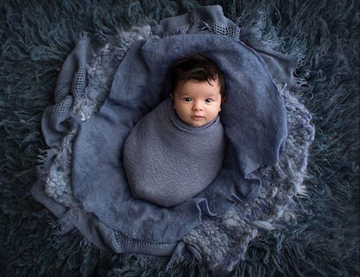 Джексон, 5 недель. Фотограф Эрин Элизабет специализируется на съемках новорожденных.