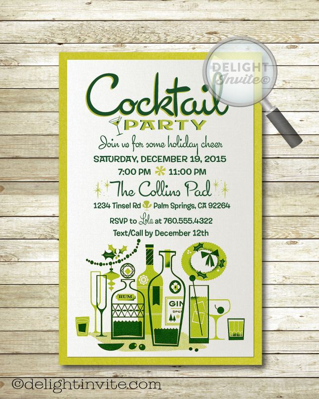 99 best Modern/Retro Party Invites images on Pinterest | Mid ...