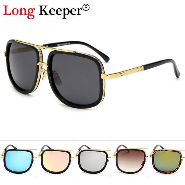 FuzWeb:Long Keeper Hot Sale Mens Sunglasses Steampunk Goggles Men Sunglasses Women Lunettes de soleil Sonnenbrille