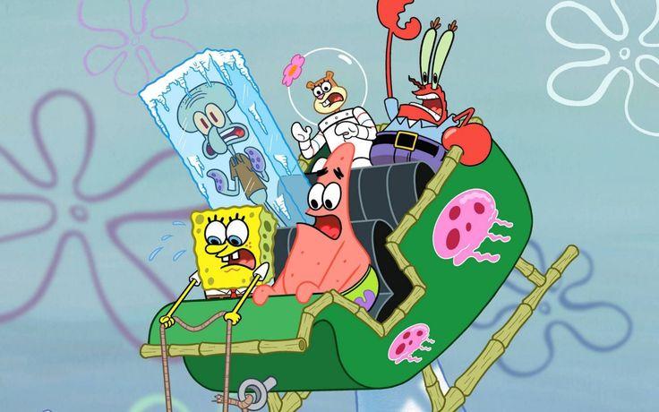 SpongeBob SquarePants, Squidward, Sandy Cheeks, Mr. Krabs & Patrick Star