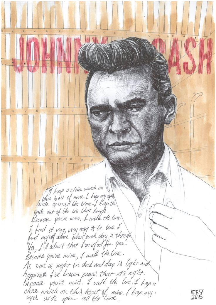 Johnny Cash walk the line