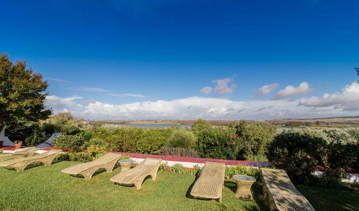 panoramica desde el jardín de Hacienda El Santiscal en Arcos de la Frontera ( Cadiz)