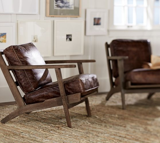 Raylan Leather Armchair   Pottery Barn   Pottery Barn   Pinterest    Armchairs  Barn and Solid oakRaylan Leather Armchair   Pottery Barn   Pottery Barn   Pinterest  . Havana Leather Armchair. Home Design Ideas