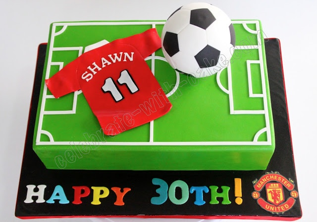Celebrate with Cake!: Man U Soccer Themed Cake