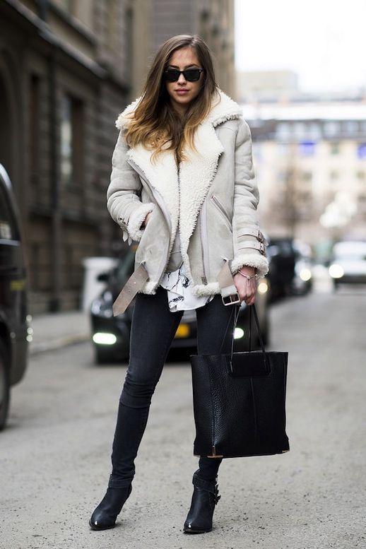Best 25 Shearling Jacket Ideas On Pinterest Helmut Lang