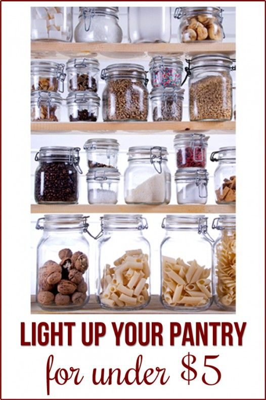 So easy to light your small closet-pantry with this $4 solution!: