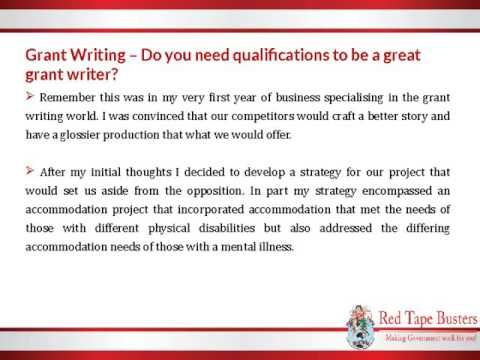Grant writer services
