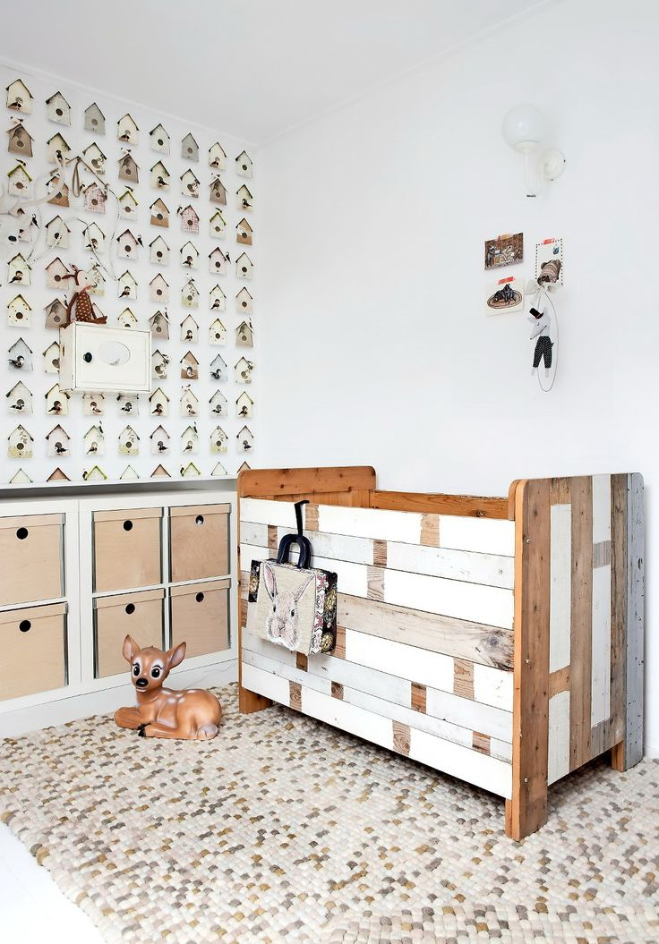 beautiful kids room//love the wallpaper and of course the bambi..