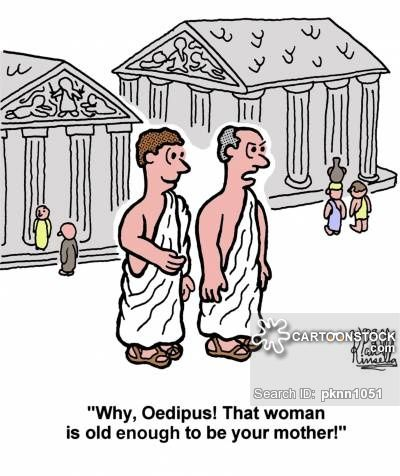 The Oedipus complex says that little boys want their mothers sexually and want to replace their father in their mother's lives. Because of fear of retaliation by their fathers, little boys give up on this venture.