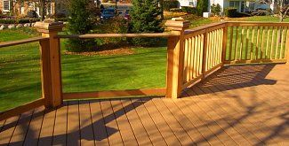 3 ft tall fence ideas | Glass Deck Railing Maintains Your Beautiful View