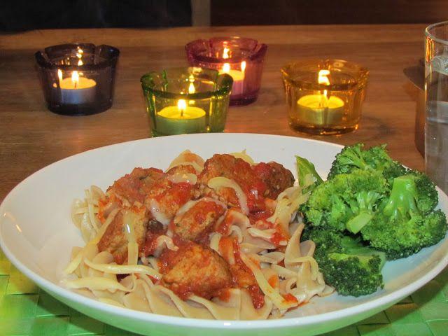 Cathrines matblogg: Pasta med kyllingkjøttboller
