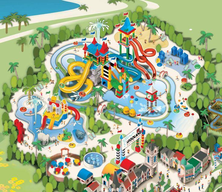 LegoLandWaterParkMapjpg 1460 1258 Pixel Amusement Park Maps